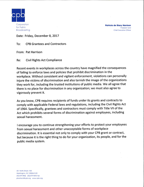 CPB letter
